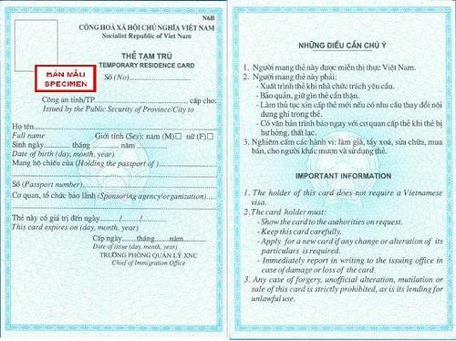 Xin giấy phép tạm trú cho người nước ngoài