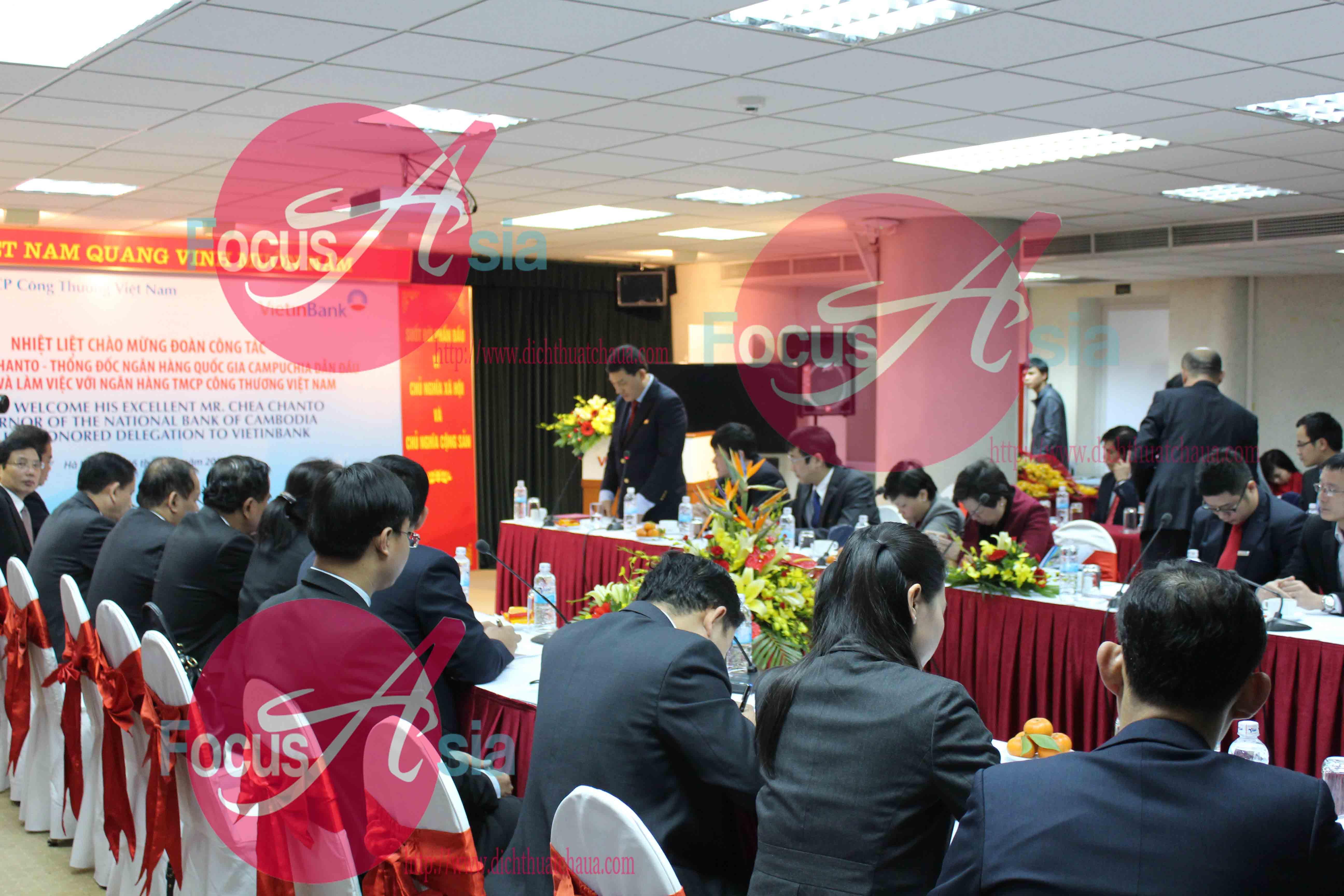 Nội dung cuộc họp được dịch qua tiếng Campuchia chuyên nghành tài chính ngân hàng