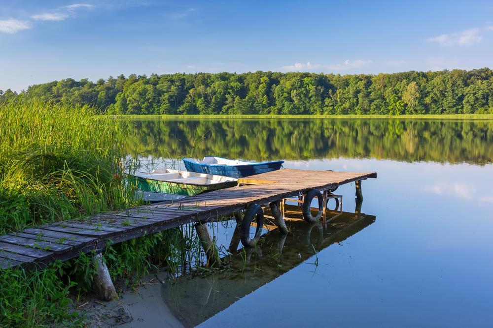 Vùng hồ masurian.