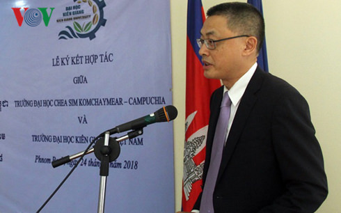 Đại sứ Việt Nam tại Campuchia Vũ Quang Minh.