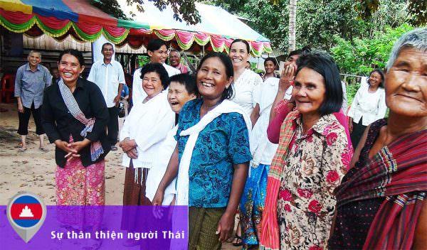 Sự thân thiện của người Thái